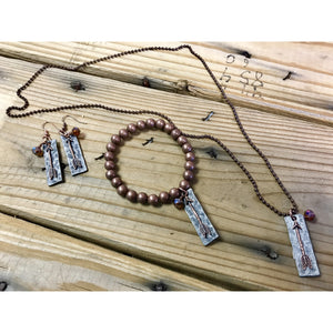 Arrow Earring Bracelet and Necklace Set