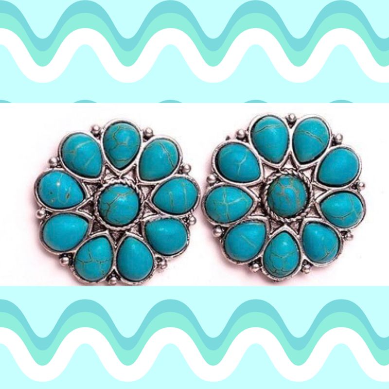 The Turquoise Cluster Earrings