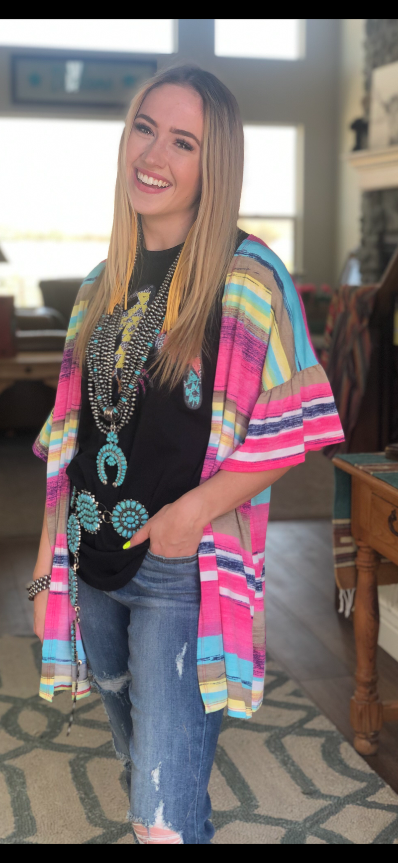 The Pocatello Pink Kimono