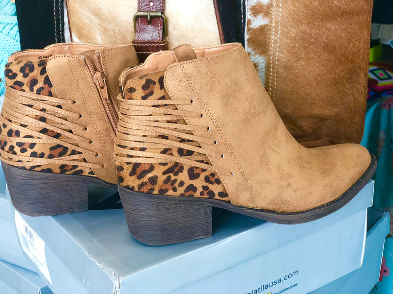 The Tanzania Cheetah Back Bootie