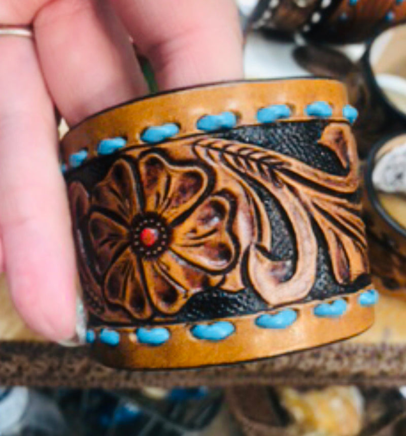 The Santa Luna Leather Cuff Bracelet