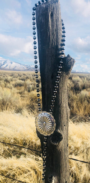 The Big Valley Silver Concho Necklace