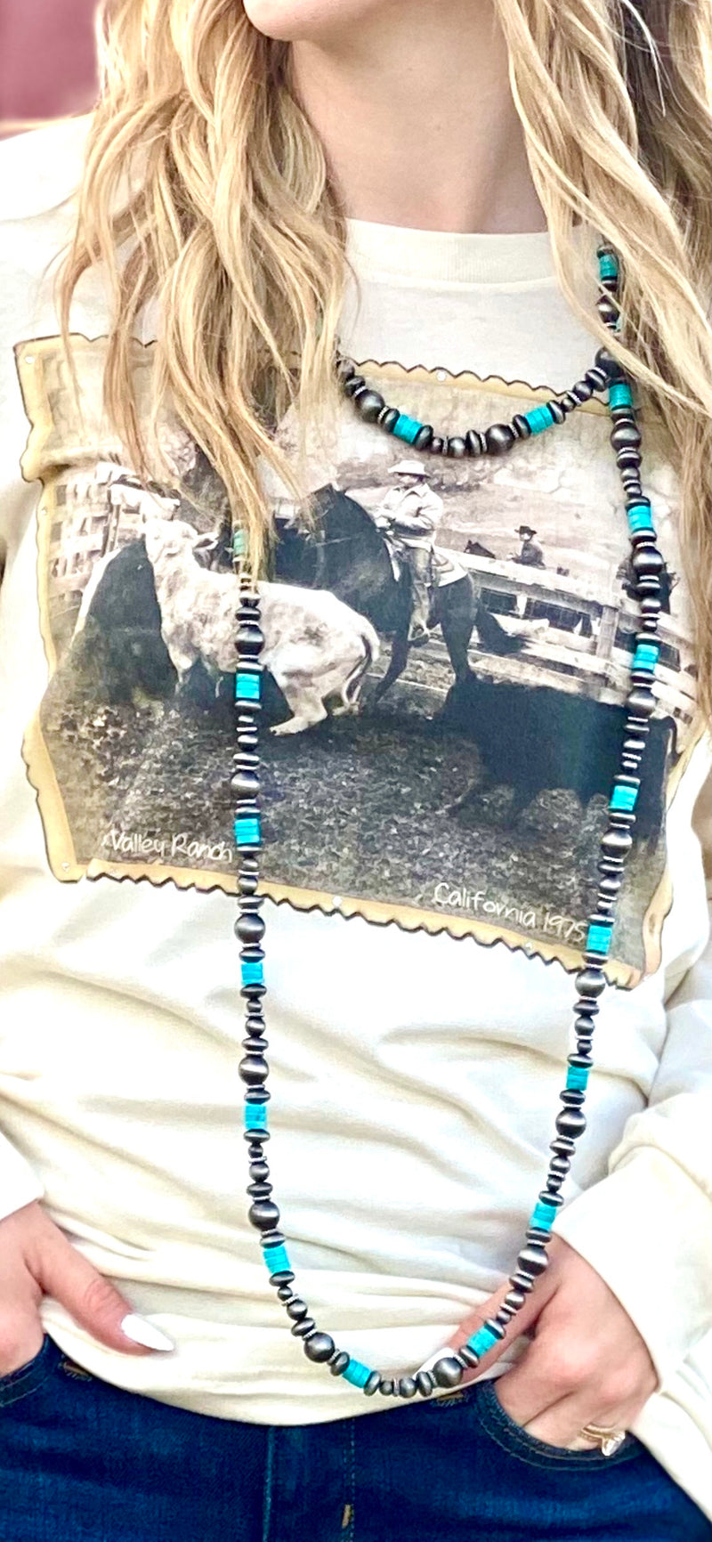 The Silver City Turquoise & Navajo Pearl Beads