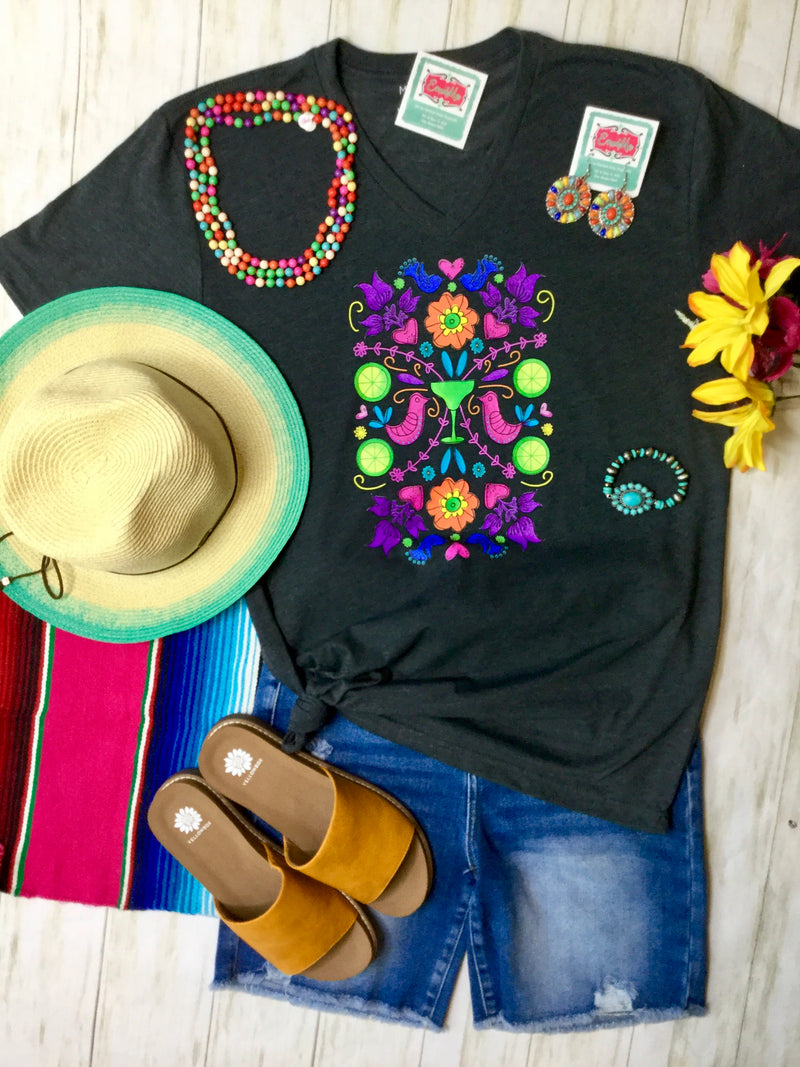 The V Neck Fiesta Manana Tee