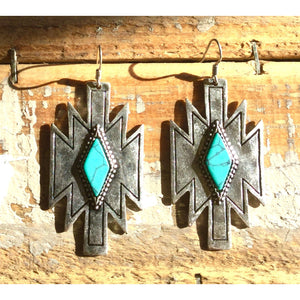 The Kimie Southwest Silver and Turquoise Earring