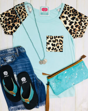 The Mint Cheetah Jungle Cat Top