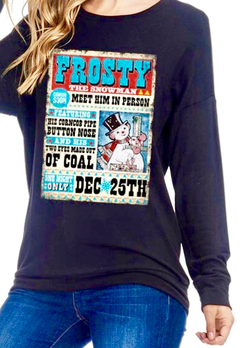 🎄Frosty The Snowman Marquee Tee 🎄