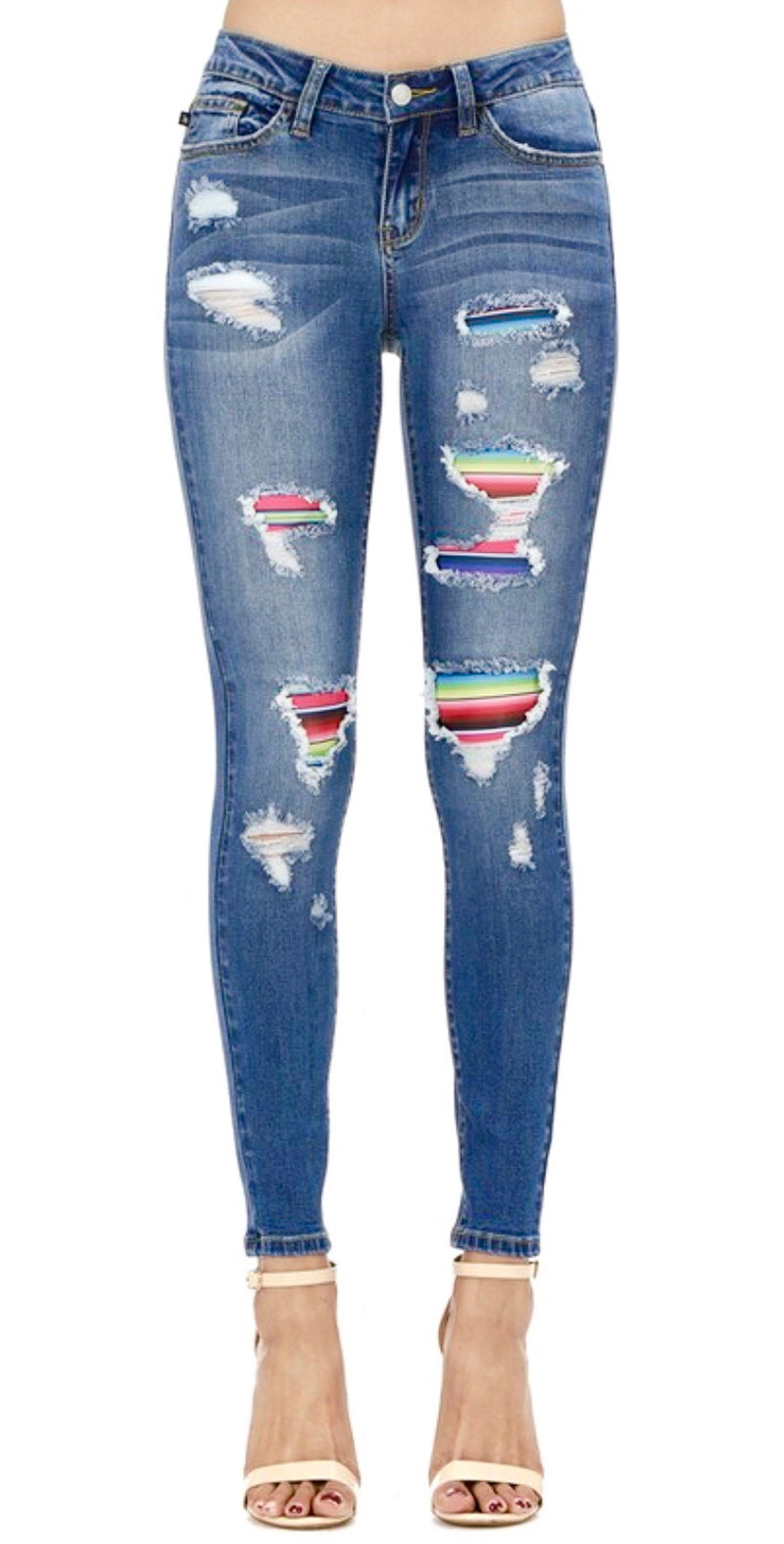 Judy Blue Serape Skinnie Denim