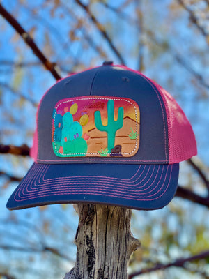 The Cactus Leather Patch Cap
