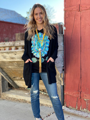 The Black Hills Popcorn Cardigan