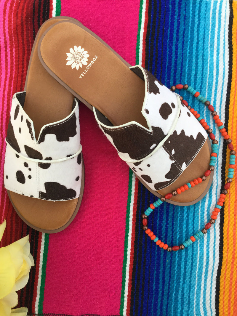The Cowhide Slide Sandal