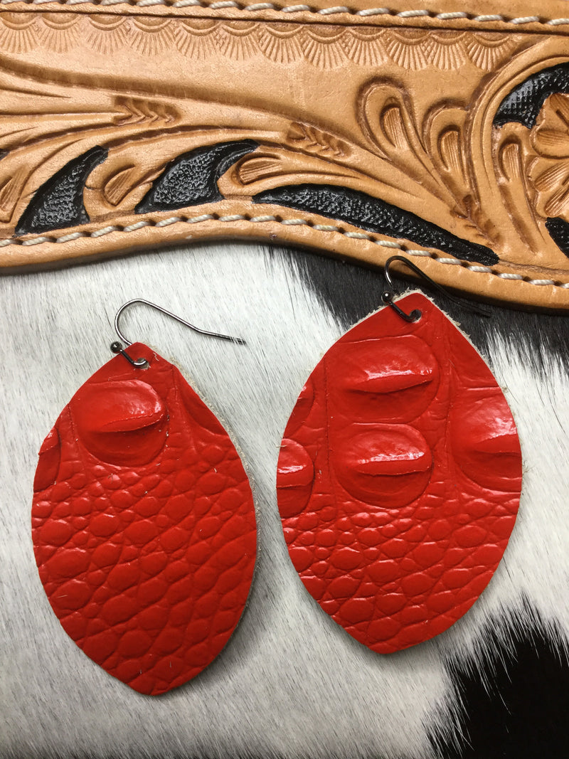 The Red Oroecos Teardrop Earring