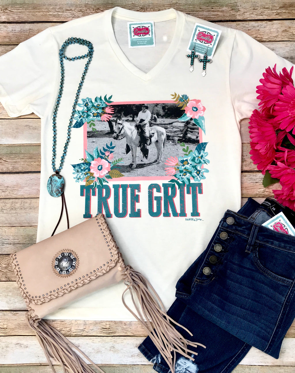 The True Grit V Neck Tee