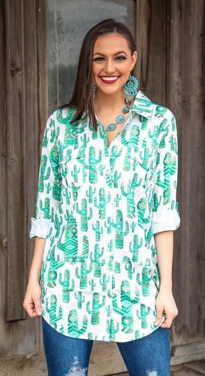 The Cactus 🌵 Country Cowboy Button Up
