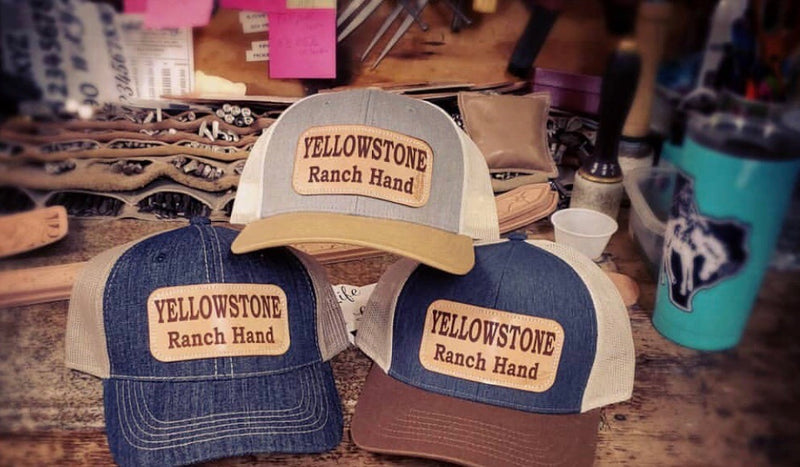 Yellowstone Ranch Hand Leather Patch Cap