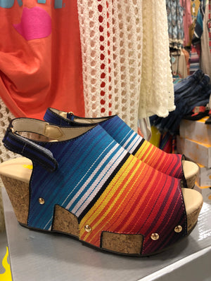 The San Frio Serape Wedge Sandal
