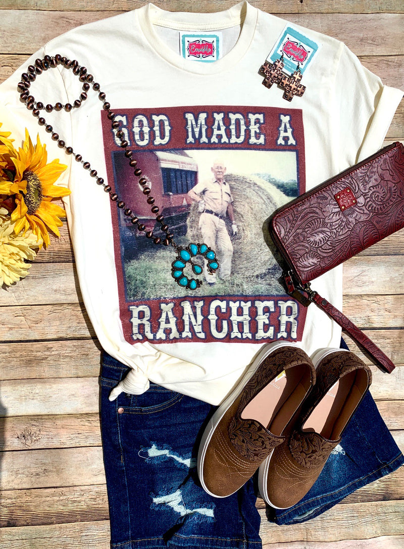 God Made A Rancher Tee