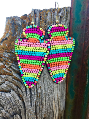 The Bali Beaded Arrow Earrings
