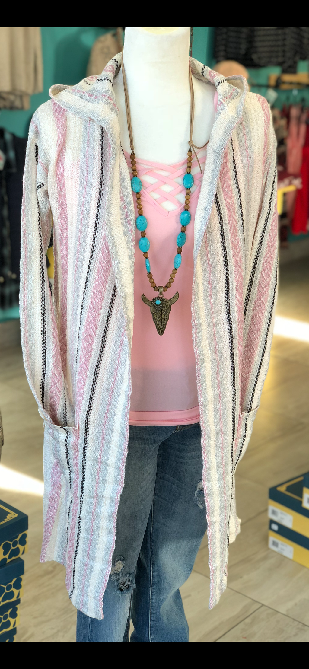 The Chula Vista Tribal Hoodie Cardigan