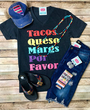 Tacos, Margs, and Queso Tee