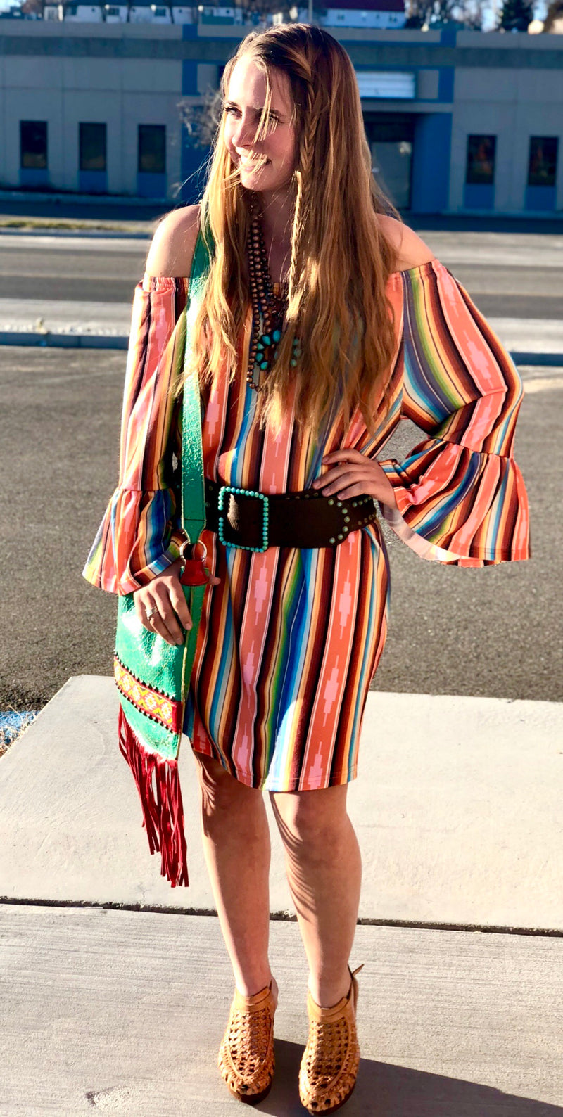 The Guadalajara Serape Tunic Dress