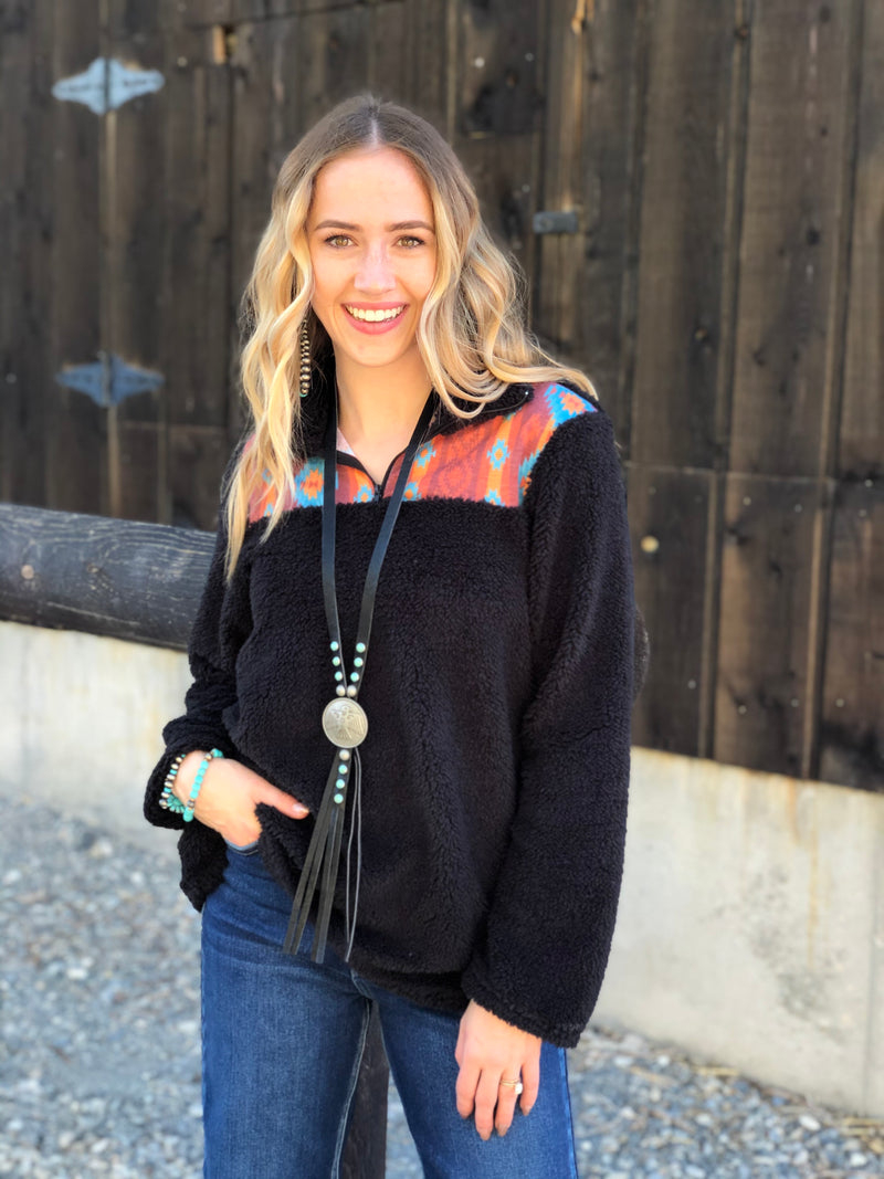 The Buttes Aztec Sherpa Pullover