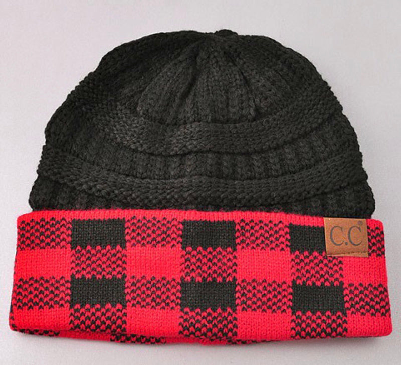 Buffalo Plaid CC Beanies