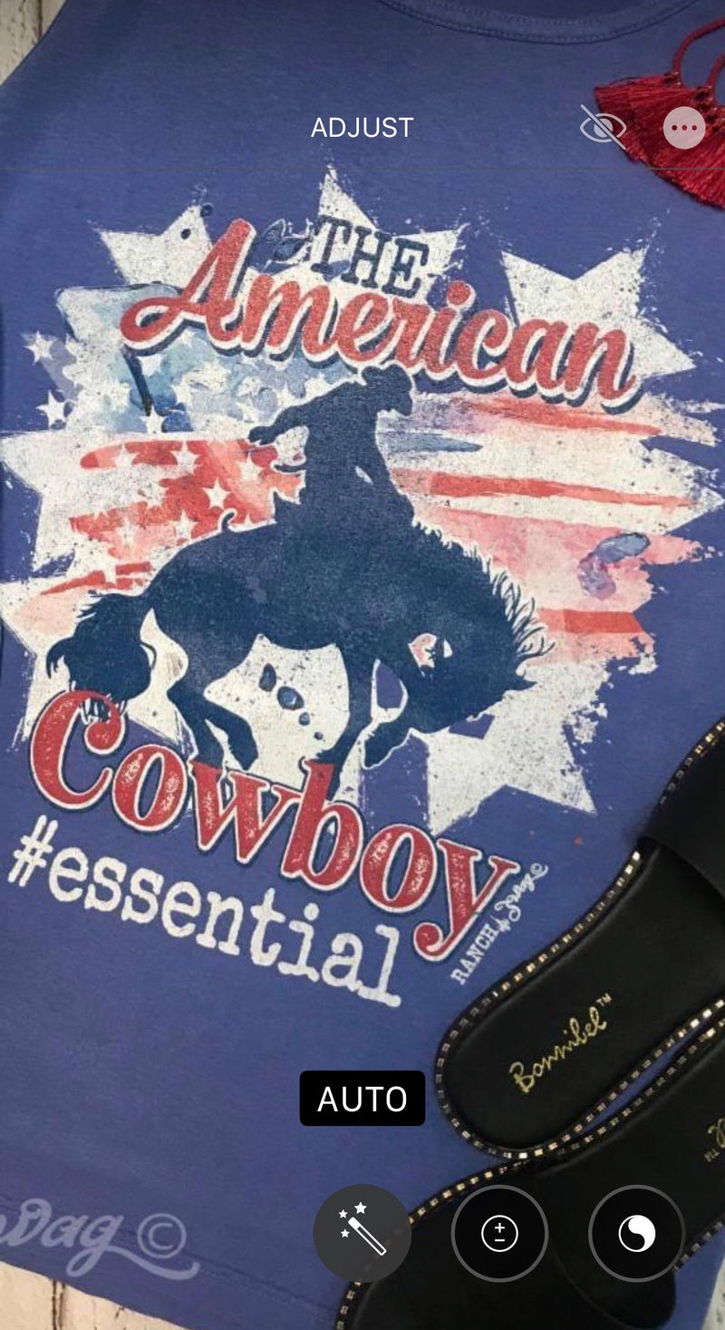 The American Cowboy V Neck Tee