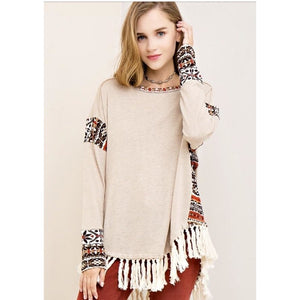 Tana's Tribal Accent Top