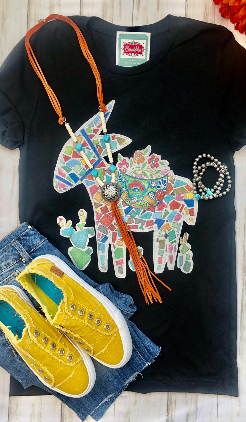 The Painted Rock Donkey Tee
