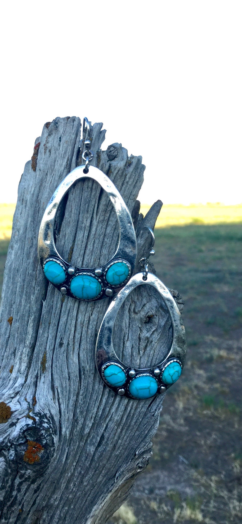 The Kennewick Silver & Turquoise Drop Earring