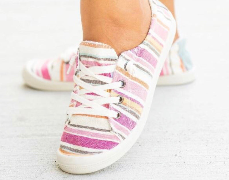 The Pink Serape Slip On Tennie