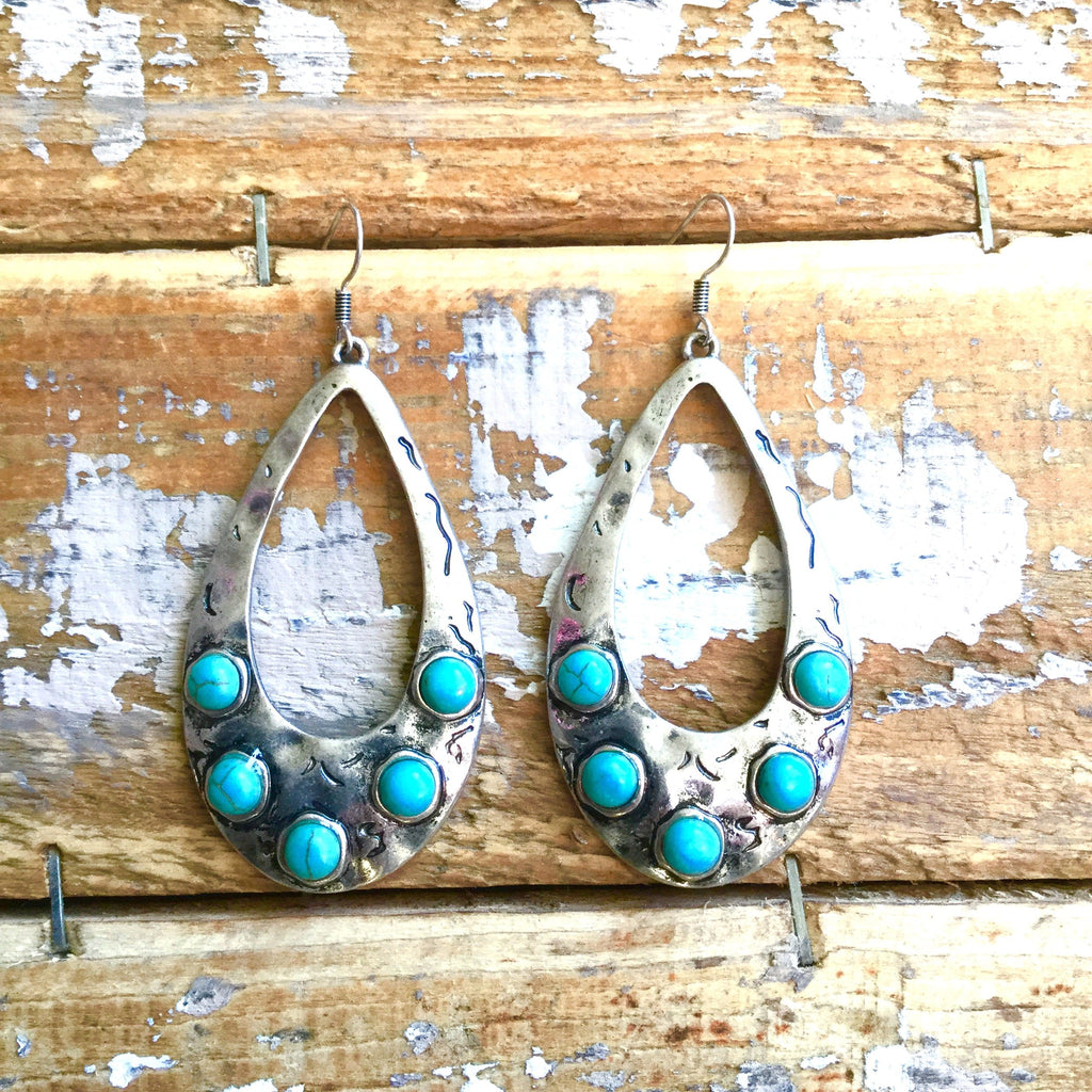 The Wamus Silver and Turquoise Earring