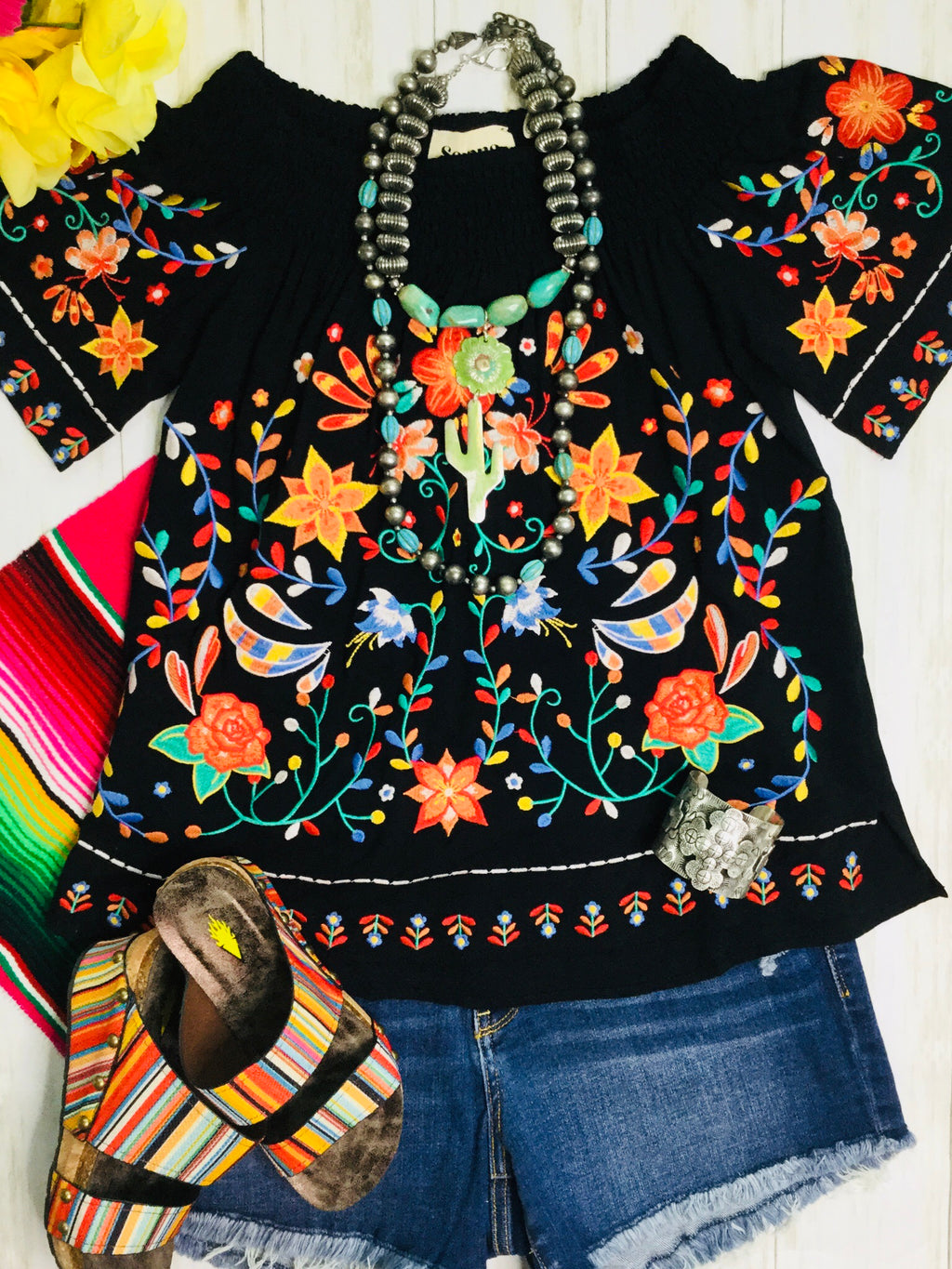 The Margarita Embroidered Top