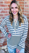 The Striped Honey Hoodie Top