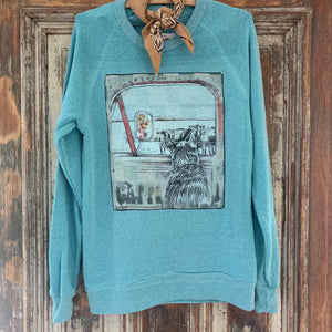 "The Blue Heeler ""Watching The Herd""  Sweatshirt"