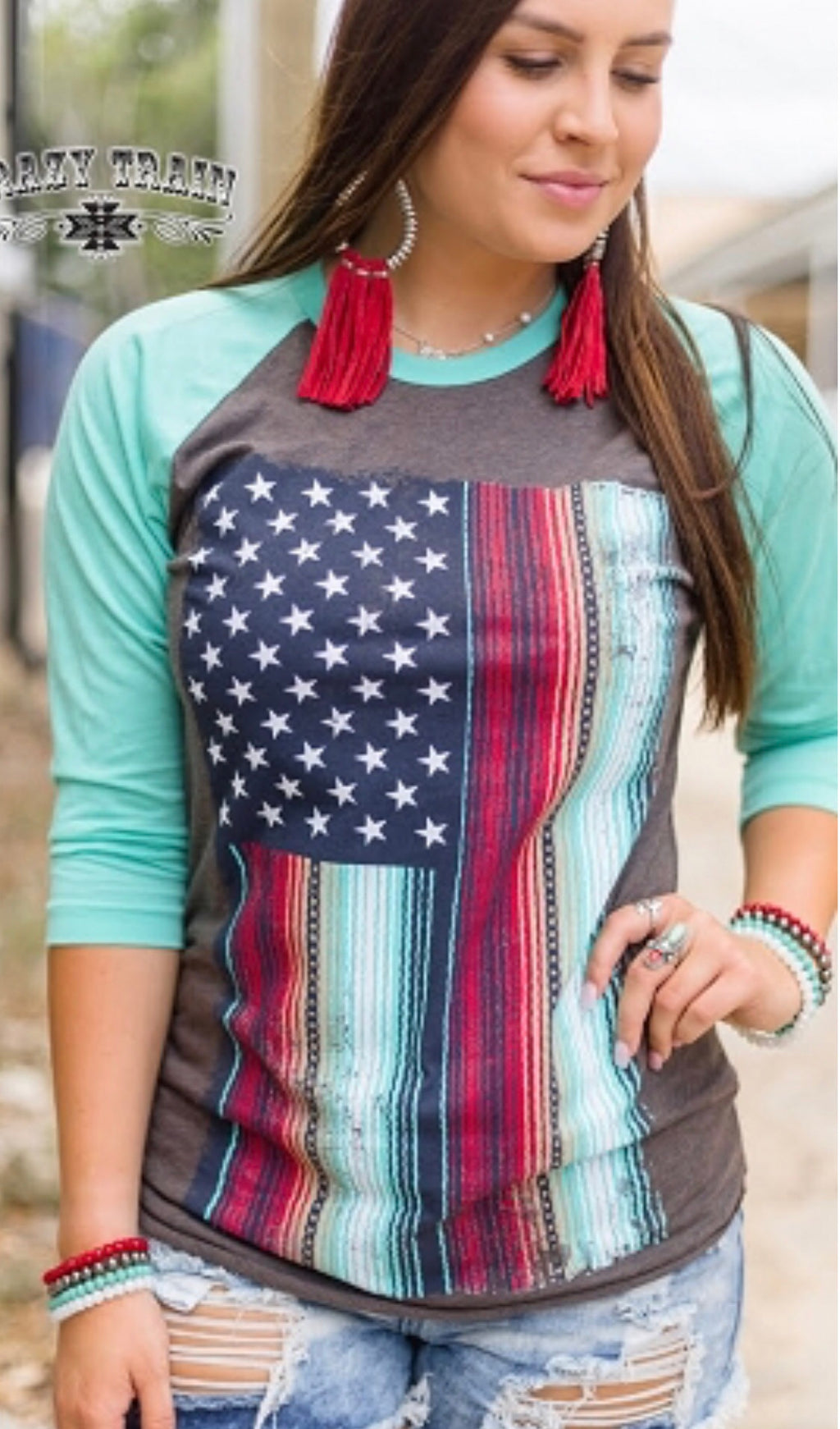 The Americana Serape Baseball Tee