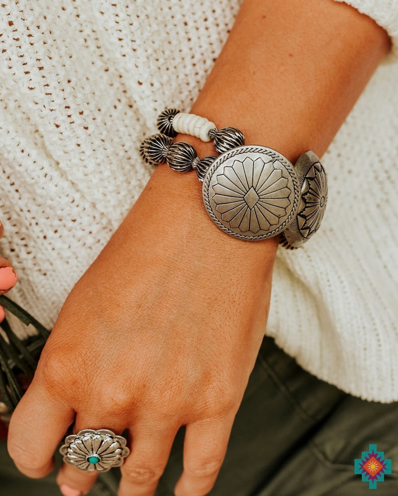 The Silver Sachina Concho Bracelet