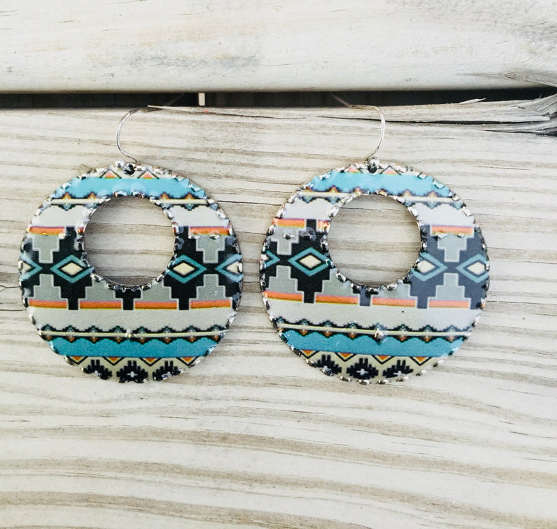 The Blue Southwest Circle Earring