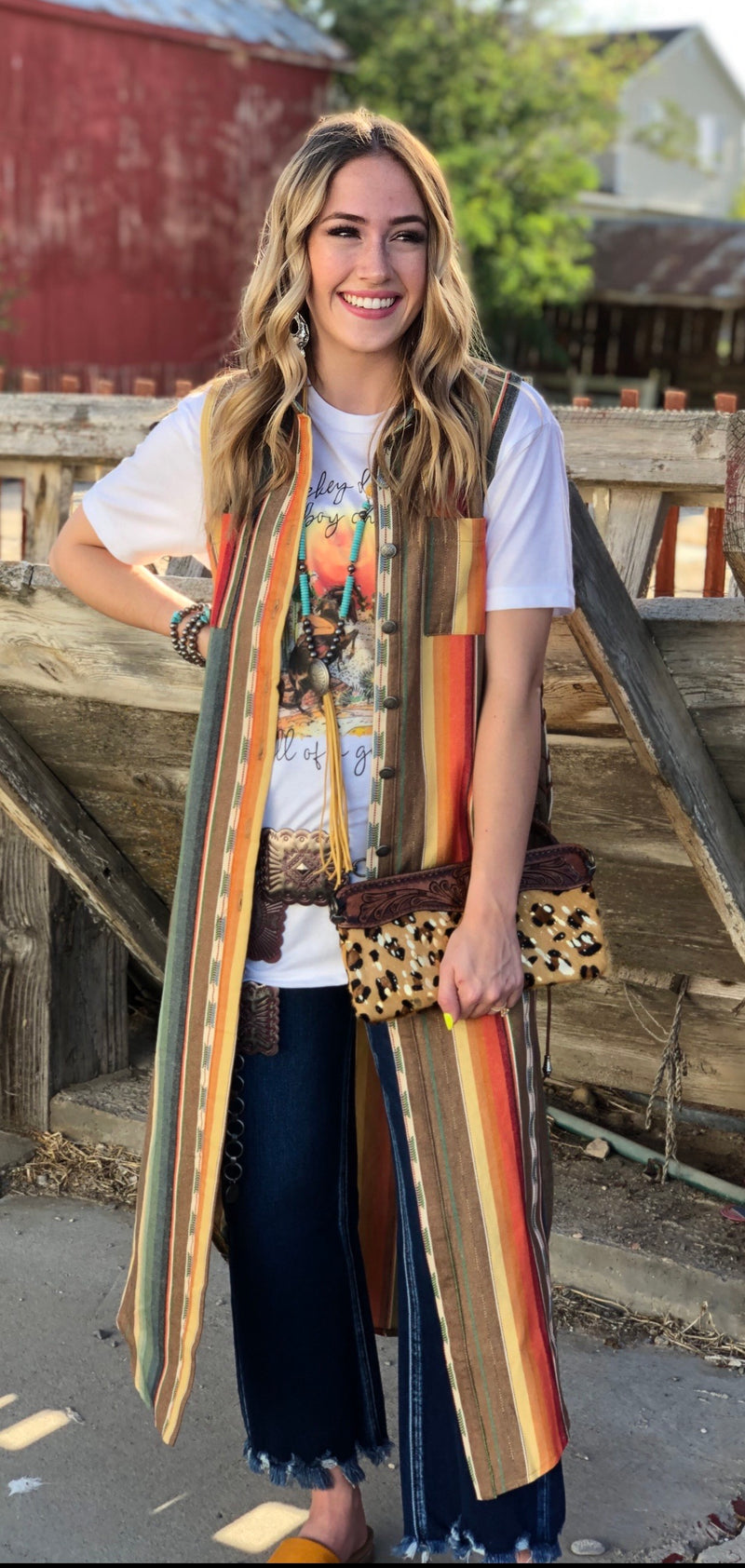 The San Jacinto Serape Duster Vest