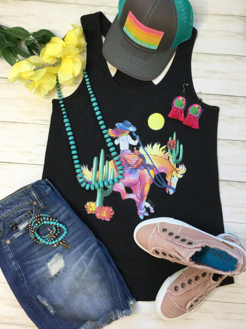 The Watercolor Cowgirl Tank