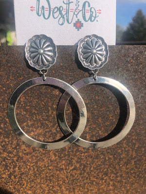 The Silver Southwest Circle Earrings