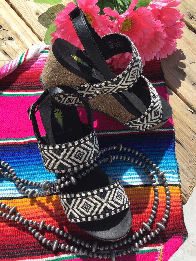 The Sedona Tribal Wedge Sandal