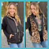 The Parkston Cheetah Reversible Black Vest