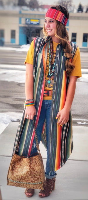The San Angelo Serape Duster Vest