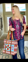 The Spring Sangria Serape Cheetah Reversible Top