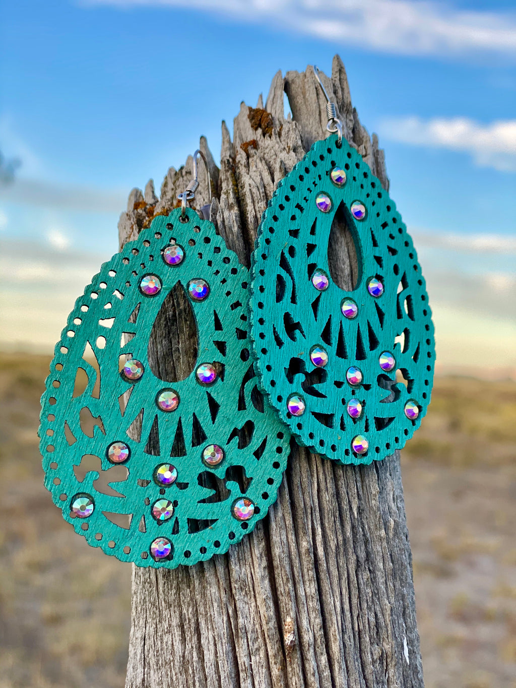 The Turquoise Ali Baba Earrings