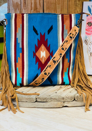 The Dallas Navajo Fringe Bag