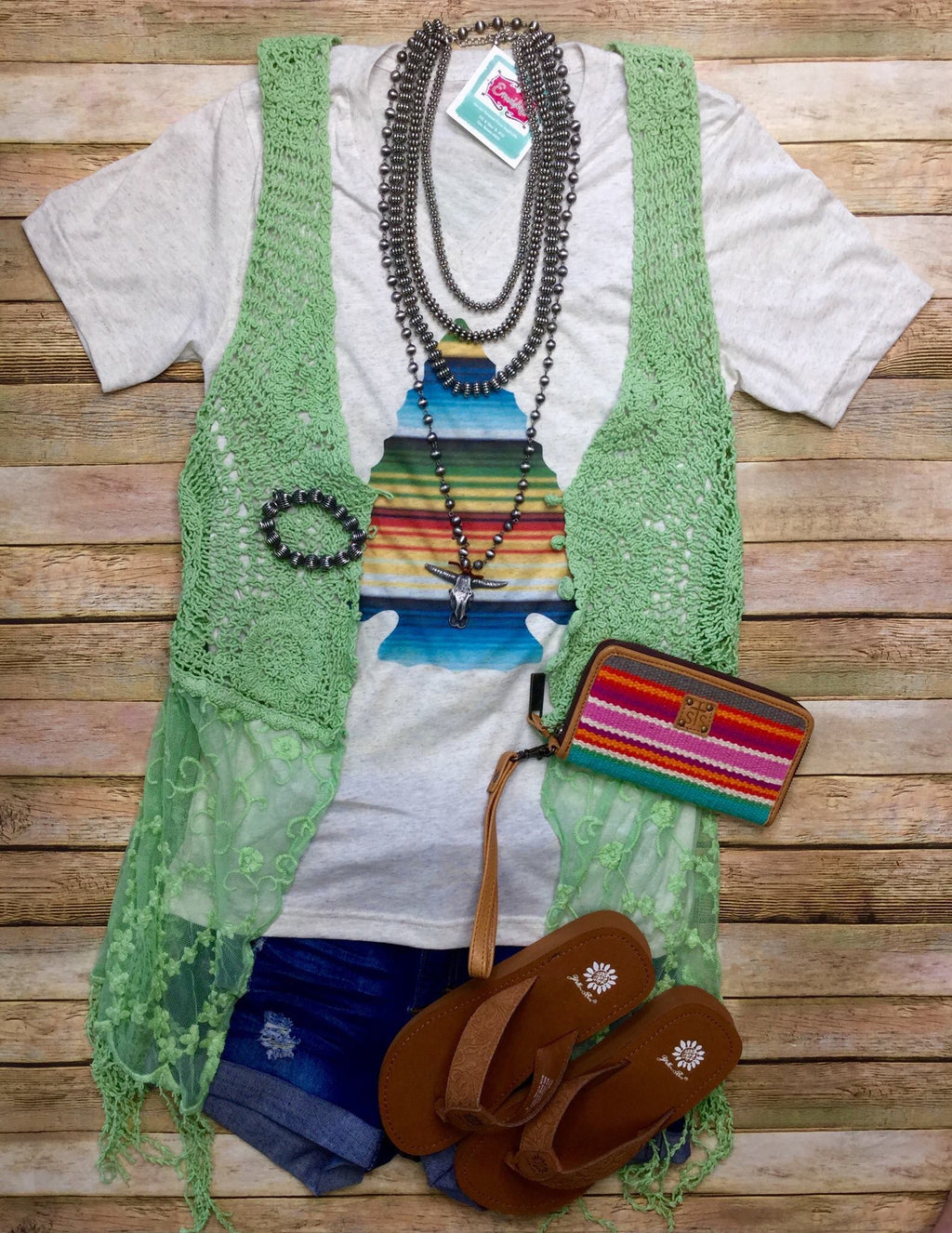 The Alamedia Mint Lace Vest