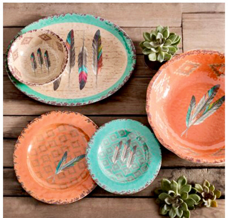 Southwest Arrow 3 piece Plate Set